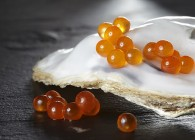 Trout caviar on oister 1