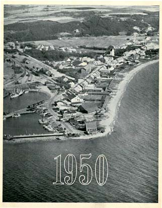 Glyngøre harbor in the year 1950
